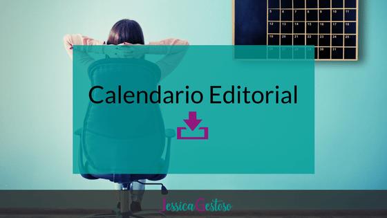 calendario editorial para blog