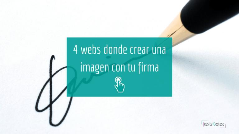 4 webs donde crear rápidamente la imagen de tu firma
