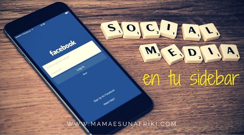 social media en tu side bar
