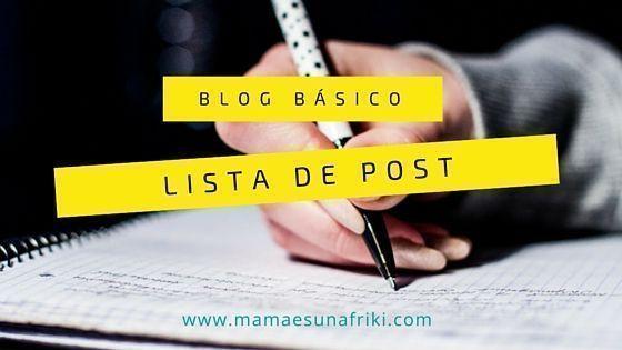 Blog básico: prepara una lista de post