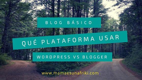 escoger plataforma blog