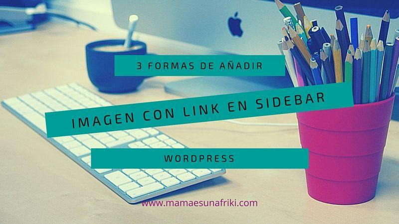 imagen con link en un widget de wordpress