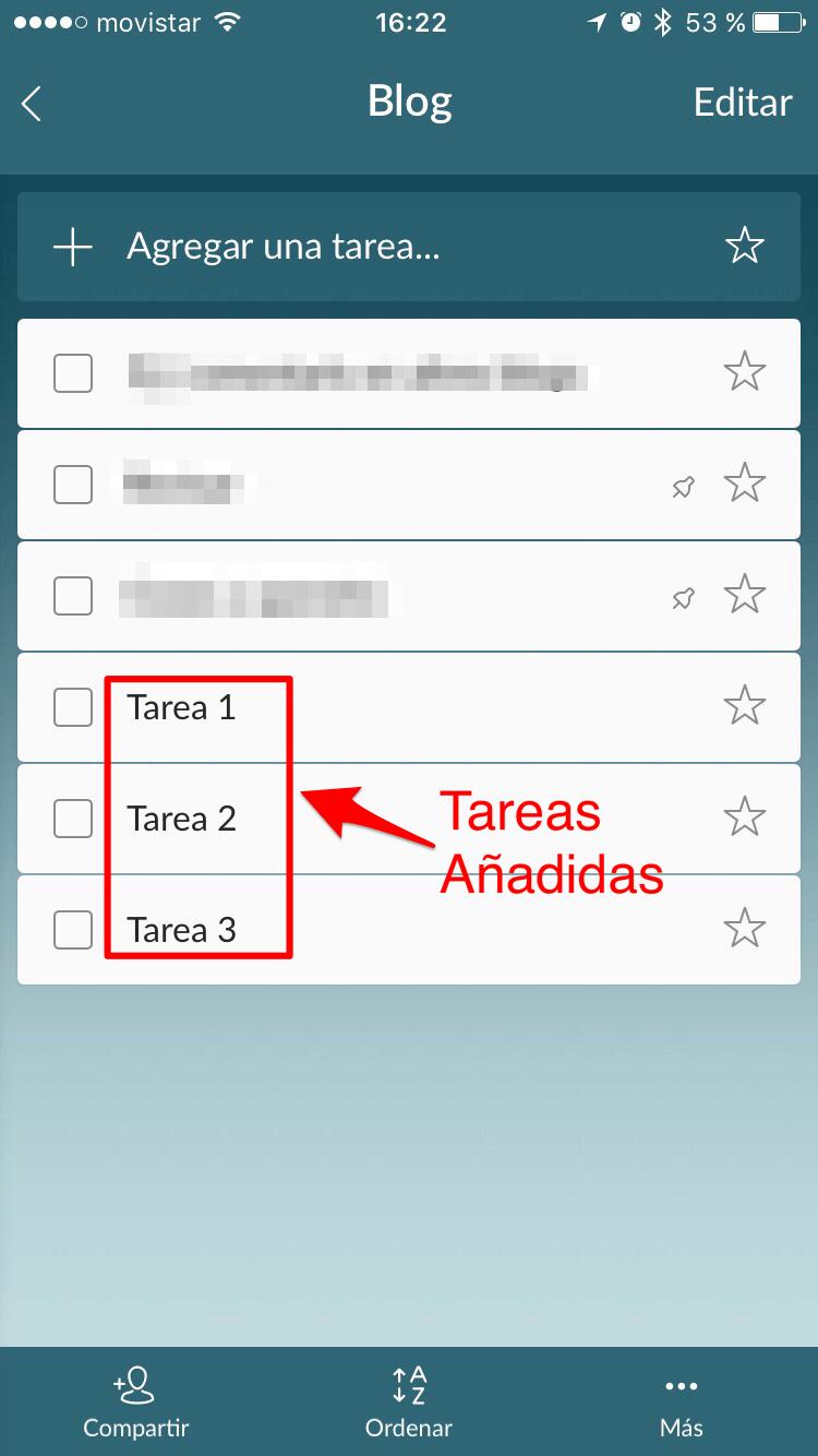 wunderlist crear lista tareas paso 3