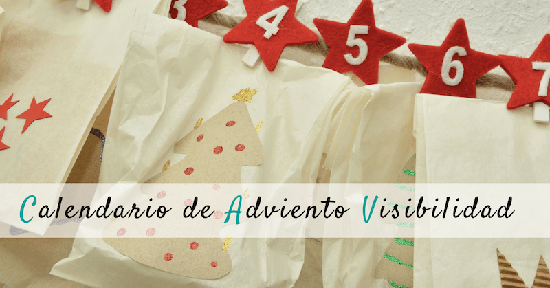 Calendario de Adviento Visibilidad Blog