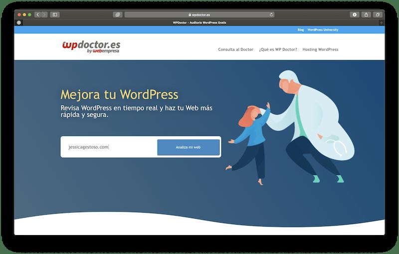 Página principal de WPDoctor